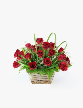 Arrangements: Red Rose Basket